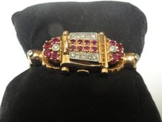 VINTAGE 14K ROSE GOLD DIAMOND & RUBY HUNTING CASE WATCH BEAUTIFUL 1930's 1940's #Vintage #1930s1940s