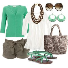 green & brown, created by htotheb.polyvore.com