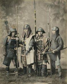 Самураи - конец эпохи. Фото Felice Beato. Япония. 1880г.