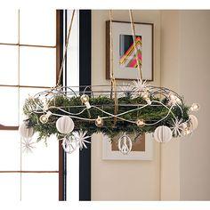 wire wreath in wall décor   CB2