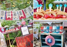 Happy 4th of July + Patriotic Party Inspiration - lots of cute party decor ideas, each picture links to a more detailed post about that party.