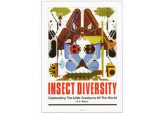 Insect Diversity Poster • The Charley Harper Gallery