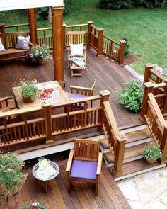 partially roofed backyard decks - Google Search
