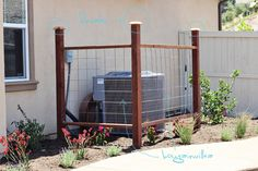 air conditioner vine trellis