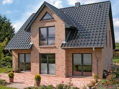 Einfamilienhaus neubau satteldach klinker  Gelungene Farbkombinationen | Zukünftige Projekte | Pinterest ...