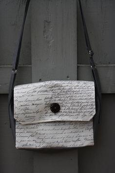 Old World Script Messenger Bag