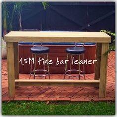 BRAND NEW - treated pine 1.5M bar leaner.