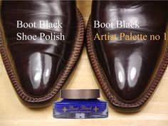ARTIST PALETTE No. 1  Boot Black makes the best shoe cream of the world.