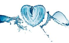 Download wallpapers heart of water, water concepts, water, spray, heart