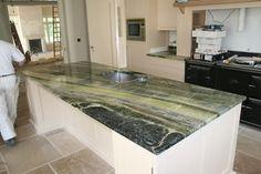Connemara marble countertop