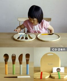 Wooden Utensils: How awesome is this set of wooden cutlery? I love it!