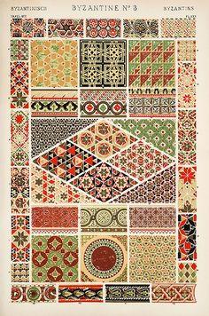 "Patterns / byzantine pattern ""The Grammar of Ornament"""
