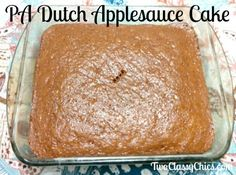 pennsylvania applesauce recipe classy dutch chics cake the Pennsylvania Dutch Applesauce Cake Recipe The Classy ChicsYou can find Applesauce cake recipes and more on our website Recipe Using Applesauce, Applesauce Bread, Homemade Applesauce, Applesauce Recipes, Applesauce Bundt Cake Recipe, Just Desserts, Delicious Desserts, Yummy Food, Amish Recipes