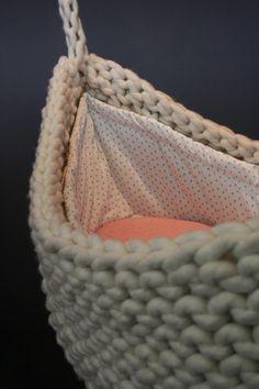 | Knit Bassinet-Hanging Moses Basket |