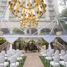 Gold Florence Chandeliers and our Button Tufted chairs from the Venice Collection. #Regram from the very talented Keith J. Laverty...Floral and Event Design Studio! | Planner: #SandyShirgaokar | Designer: The Lynden Lane Company | Furniture Rental: Revelry Event Designers | Venue: Ritz Carlton Marina Del Rey | Photography: Nicole Caldwell Photography Studio | Linens: La Tavola Fine Linen | Lighting + Draping: Amber Event Production | Tent: Classic Event & Tent Rentals - Los Angeles…