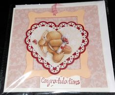 """Decoupage 6"""" x 6"""" Wedding and Engagement Card congratulations by Prettythings20 on Etsy"""