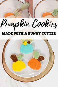 Are you looking for an easy pumpkin cookie to make this fall or Halloween? Try these beautiful and elegant pumpkin cookies! They are made with a bunny cookie cutter, which is sometimes easier to find than a pumpkin cutter. These pumpkin cookies make a beautiful addition to a fall cookie platter, a Halloween party, or as a fun treat to make with your kids! #thebearfootbaker #halloweencookies #halloweentreeats #bakingwithkids Fall Cookies, Pumpkin Cookies, Sugar Cookies, Halloween Cookies, Halloween Party, Halloween Decorations, Little Pumpkin, A Pumpkin, Baking With Kids