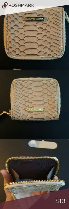 Change purse Cream with gold zipper Vince Caputo -never used Vince Camuto Bags Wallets