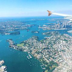 Back at home  #BrisbaneSydney #Sydney #plane #flight #Sydneyharbour #Sydneyharbourbridge #Sydneyoperahouse #SydneyCBD  #Tigerair #Ocean #boats by burra93 http://ift.tt/1NRMbNv