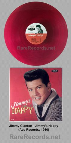 Jimmy Clanton - Jimmy's Happy (1960) Red vinyl copies of this 1960 album on Ace were reportedly only available to members of the Jimmy Clanton fan club. #records #vinyl #albums  Click here to learn more about this record: http://www.rarerecords.net/store/jimmy-clanton-jimmys-happy-and-jimmys-blue-1960-ace-red-and-blue-vinyl-lps/