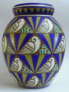 Charles Catteau - Boch Keramis Art Deco vase