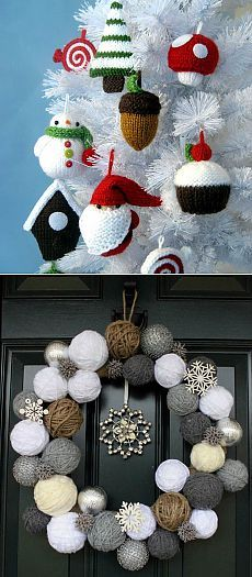 Christmas decoration - knitted ornaments with their own hands