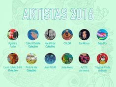 Artistas Seleccionadospara pintar Naturen 2016. La 4ta edición de Traer la Naturaleza a Buenos Aires se realiza los días 12 y 13 de Noviembre con un mural comunitario en Plaza de la Democracia,Vi…