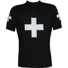 Black Cross Wool Jersey