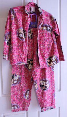 GIRLS MATTEL BRATZ DOLLS FLANNELETTE PYJAMAS PJS WINTER SIZE 10 PINK VGOOD RP$30 #MATTELTARGET #PyjamaSet