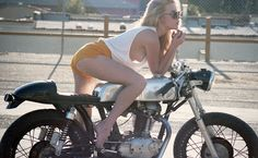 Girl on a motorcycle.