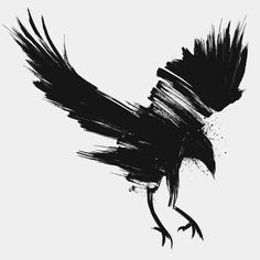 Crow by Andras Bodecs, via Behance Crow Art, Raven Art, Raabe Tattoo, Tattoo Drawings, Body Art Tattoos, Ear Tattoos, Black Crow Tattoos, Crows Drawing, Crows Ravens