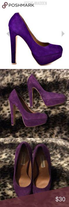 Steve Madden Beasst dark purple suede heels Steve Madden Beasst dark purple suede heels Steve Madden Shoes Heels