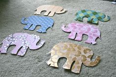 Directions and template for elephant garland