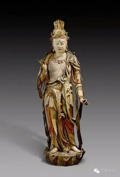 Wood statue of Bodhisattva, Jin Dynasty, China. Collection of Nelson-Atkins Museum