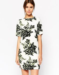 Floral Tee Shirt Dress // ASOS
