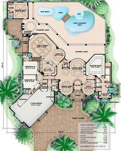 Masterpiece with Arched Windows - 66232WE | 1st Floor Master Suite, Bonus Room, CAD Available, Corner Lot, Den-Office-Library-Study, Florida, Luxury, MBR Sitting Area, Mediterranean, PDF, Photo Gallery, Premium Collection, Split Bedrooms | Architectural Designs
