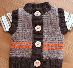 Chunky Monkey Vest Knitting Pattern