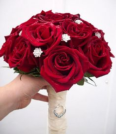 Black Magic Dreams- red rose wedding bouquet in Haddonfield NJ, Haddonfield Floral Company