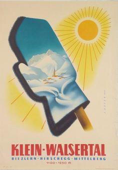"""Klein-Walsertal (Ski)"" (c. 16 x 23 inches. Vintage Ski Posters, Art Deco Posters, Ski Slopes, Cover Art, Austria, Skiing, Sports, Masters, Wall Decor"