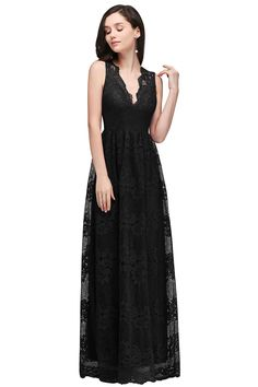 Babyonlinedress Women s Casual V-neck Slim Retro Floral Lace Formal Long  dresses 66a114d2a791