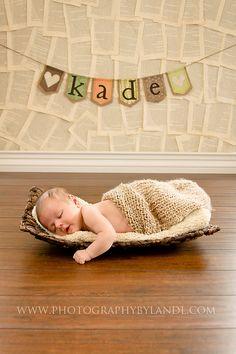 Baby burlap banner