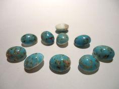 Vintage Glass Stone Light Blue Speckled by JEDJewellerySupplies, £2.99