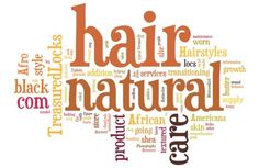 Naturally Me...the Way God Intended, Word Cloud based on Natural Hair search 3.19.11