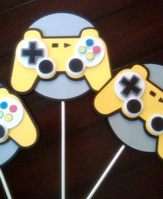 Video Game Party Larger Centerpiece Topper by ThePaperPartyBox, $8.50