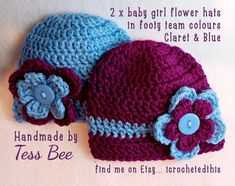 Baby Girl Hats Twins Photo Prop Twin Baby hats Football | Etsy Twin Baby Girls, Baby Girl Hats, Twin Babies, Cute Baby Girl, Girl With Hat, Twin Photos, Cute Twins, Flower Hats, Crochet Round