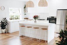 Kitchen Reno, Kitchen Dining, Kitchen Remodel, Kitchen Layout, Melbourne House, Décor Boho, Küchen Design, Kitchen Interior, Dining Area