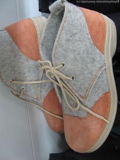 Ботинки войлочные мужские - Гульназ Хасанова - Ярмарка Мастеров: