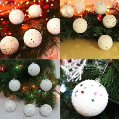 6pcs Christmas Tree Decor Ball Bauble Hanging Home Xmas Party Ornament Decor