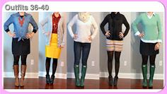 Outfit Posts: (outfits 36-40) one suitcase: winter vacation capsule wardrobe