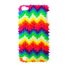 3D Neon Rubber Spike Chevron Cover for iPod Touch 5   Claire's